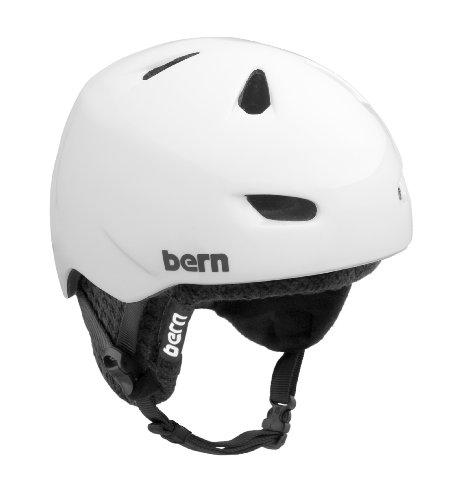 Bern Herren Helm Brentwood, schwarzes Innenpolster gloss white X-Large/XX-Large