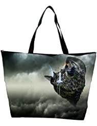 Snoogg Abstract Animated Earth Design Designer Waterproof Bag Made Of High Strength Nylon