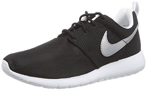 Nike Roshe One (Gs), Scarpe sportive, Ragazzo, Nero (Black/Mtllc Silver-White-White), 37.5