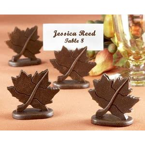 "Classic Maple-Leaf Place Card Holder (Set of 4) ""As Seen in Brides Magazine Sept/Oct 2008"" - Baby Shower Gifts & Wedding Favors"