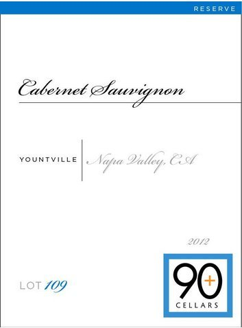 2012 90+ Cellars Lot 109 Yountville Reserve Cabernet Sauvignon 750 Ml