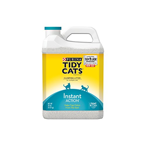 Tidy Cats Cat Litter, Clumping, Instant Action, 20-Pound Jug, Pack of 2