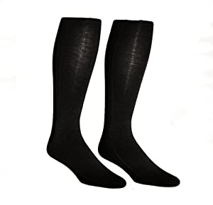 "Maxit 102322809 M-Soxx Thermal Sock, 20"" Length x 4-1/4"" Width x 1/8"" Height, Black (1 Pair)"
