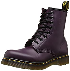 Dr. Martens Women's 1460 8 Eye Boot,Purple Smooth,UK 6.5 M
