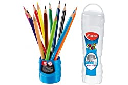 Maped Color Pencils Pack Of 12 Plastic Box Display