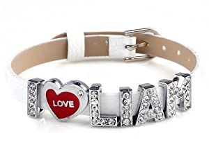 I Love Liam I Love Id One Direction Member White Bracelet Link Cuff Bangle Fashion Jewelry by Yiwu City Yinuo E-Commercial Business Co.,Ltd
