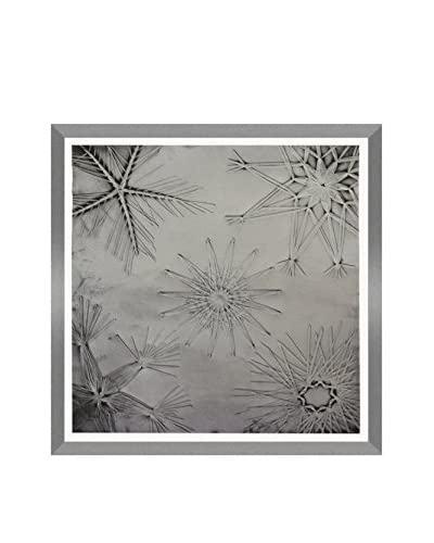 Aviva Stanoff Double Starbursts II Hand-Pressed on Silver Cobble Velvet Artwork