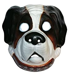 PM002S Dog animal plastic maska fancy dress adult by Bristol Novelty