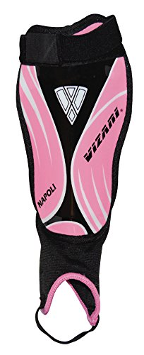 Vizari Napoli Shin Guard, Pink/Black, X-Small