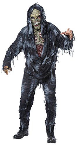 [California Costumes Men's Rotten to the Core, Black/Grey, Medium] (Rotten To The Core Zombie Costume)