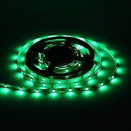 Ch&Ch 5M 30W 30x5050SMD Strip 1500-1800LM LED verde chiaro con 12V 3A Adapter