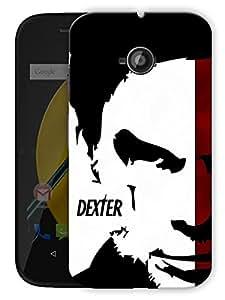 "Dexter Face Printed Designer Mobile Back Cover For ""Motorola Moto E"" By Humor Gang (3D, Matte Finish, Premium Quality, Protective Snap On Slim Hard Phone Case, Multi Color)"