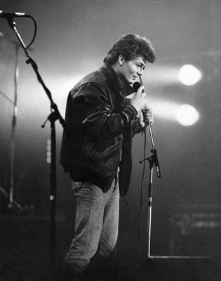 Morten Harket on stage in the 1980s - Art Print