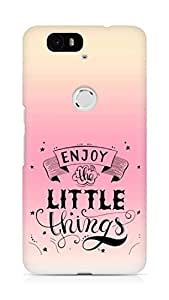 AMEZ enjoy the little things 2 Back Cover For Huawei Nexus 6P