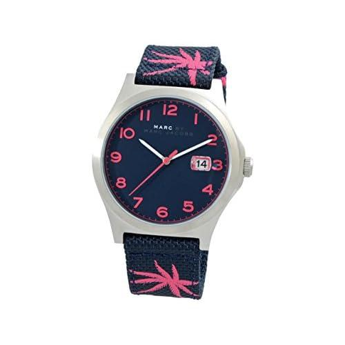 (マークバイマークジェイコブス) MARC BY MARC JACOBS 腕時計 メンズ ジミー メンズ スティールブルー ピンク ステンレススチール NATO 45mm mbm5087 並行輸入品 [並行輸入品]