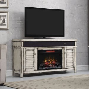 Classicflame Simmons Infrared Electric Fireplace Entertainment Center In Country White - 26Mms8529-T478