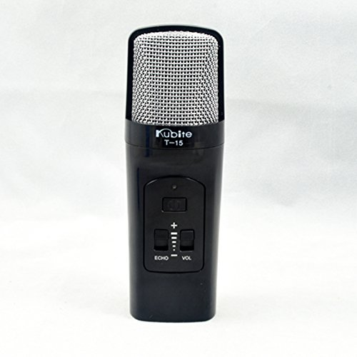 Sourcewell Kubite T-15 Digital Mobile Karaoke Microphone with Built in Mixer - Black