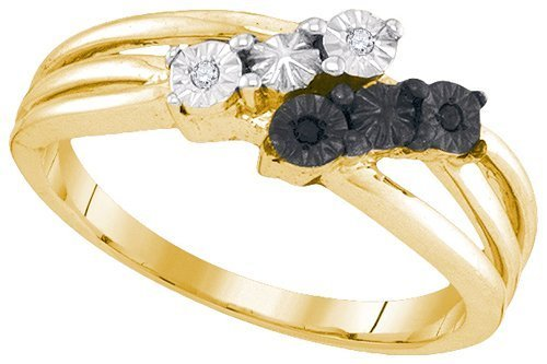 002ctw-Black-White-Round-Diamond-Ring-Wedding-Band