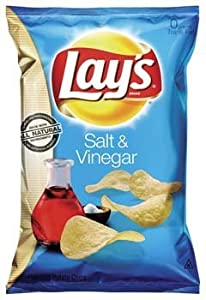 Lay's Salt & Vinegar Potato Chips, 10oz Bag (Pack of 6)
