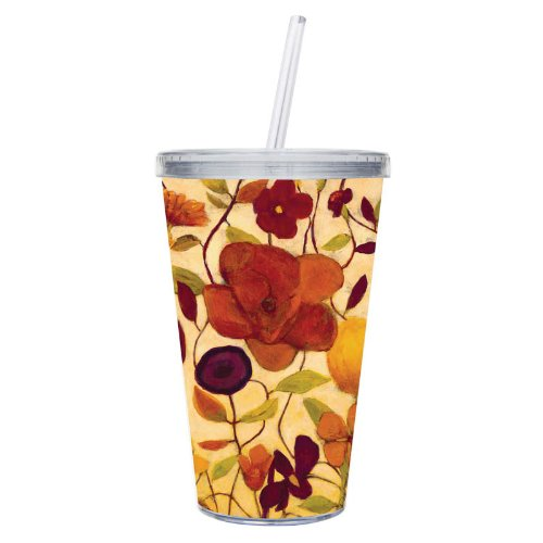 Cypress Insulated Cup W/Straw 17Oz, Floral Spice