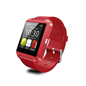 LEMFO Bluetooth Smart Watch WristWatch U8 UWatch Fit for Smartphones IOS Apple iphone 4/4S/5/5C/5S Android Samsung S2/S3/S4/Note 2/Note 3 HTC Sony Blackberry (Red)