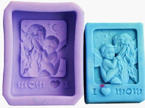 Allforhome Mother'S Day Silicone Mother Baby Handmade Soap Mold Diy Chocolate Moulds