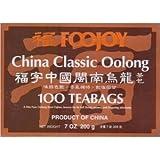 Foojoy China Classic Min-nan Oolong Tea - 100 Tea Bags 7oz/200g (Pack of 1)