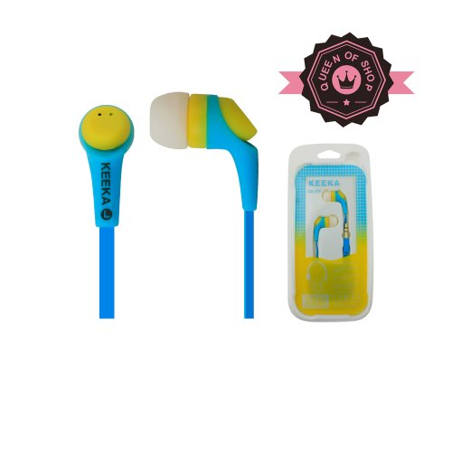 Queen K09 Blue Buy 2 Get 1 High Quality Sound Wired Dual Color Earbud 3.5Mm Universal Headset For Apple Ipad 1/2 And Most Cell Phone Models Good Gift For Kids