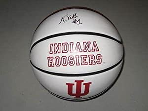 Noah Vonleh Indiana Hoosiers Signed Logo Basketball Exact PROOF NBA Stud -... by Sports+Memorabilia