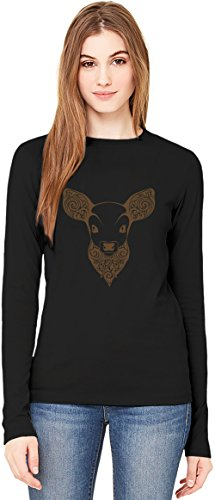 Bambi T-Shirt da Donna a Maniche Lunghe Long-Sleeve T-shirt For Women| 100% Premium Cotton| DTG Printing| Large