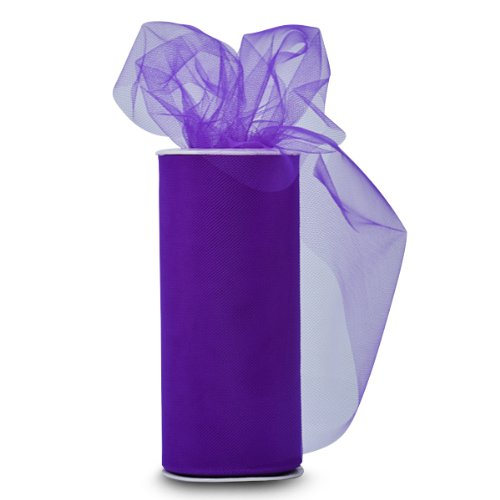 Find Cheap Expo Classic Tulle Spool of 25-Yard, Purple