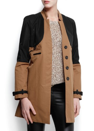 Mango Women's Two-Tone Duffle Jacket - Beli,