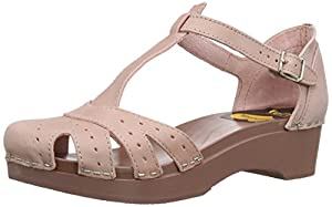 swedish hasbeens Women's Fideli Platform Sandal,Dirty Pink/Nubuck Dirty Pink,10 M US