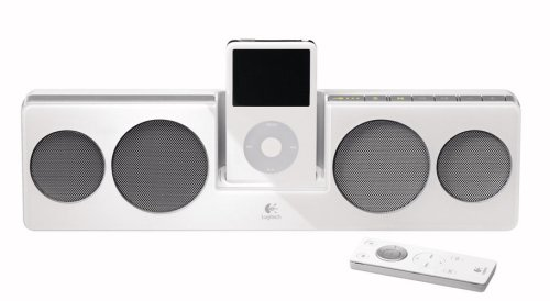 Logitech Pure-Fi Anywhere Compact Speakers For Ipod (White)