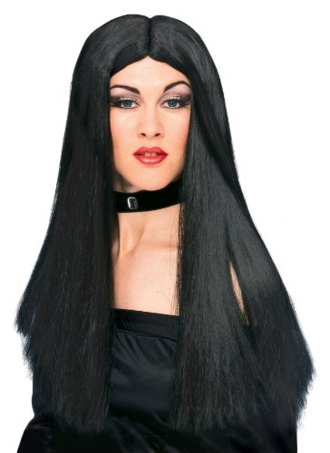 Rubies Witch Wig, Black, One Size - 1