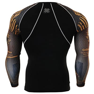 Fixgear Mens Womens Sport MMA Compression Base Layer T Shirt Long Sleeve S~4XL