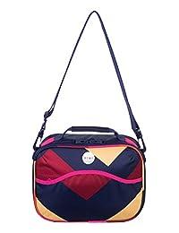 Roxy Polyester 7 Liters Multi-Colour Messenger Bag (ERJBL03016)
