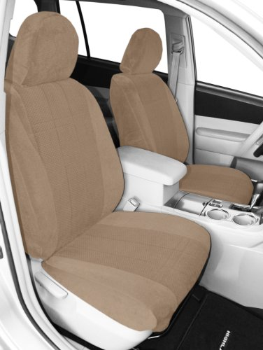 CalTrend Front Row Bucket Custom Fit Seat Cover for Select RAM Models Charcoal Insert and Black Trim DuraPlus