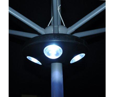 Hamptons Direct - Lampada a 16 LED molto luminosa per ombrelloni da giardino
