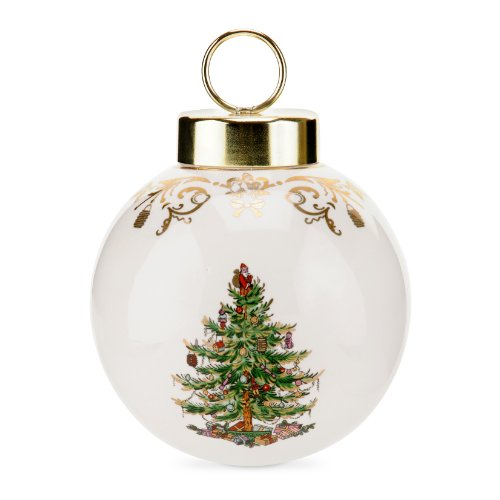 Spode Christmas Tree Gold Decorative Bauble, Large