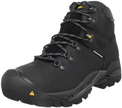 KEEN Utility Men's Cleveland Steel Toe Work Boot,Black,7 D  US
