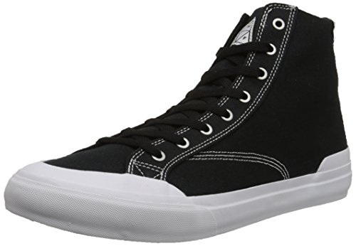 HUF Men's Classic Hi Skateboarding Shoe, Black Canvas, 11 M US