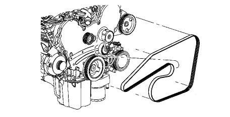 Dodge Sprinter Rear Mopar Serpentine Belt 3.0 Diesel Engine W/O Rear A/C