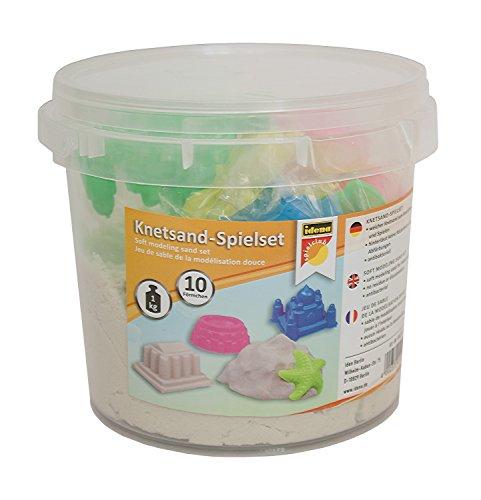 idena-40415-kit-de-jeu-de-sable-de-petrissage-env-1-kg-sable-avec-10-sable-moules