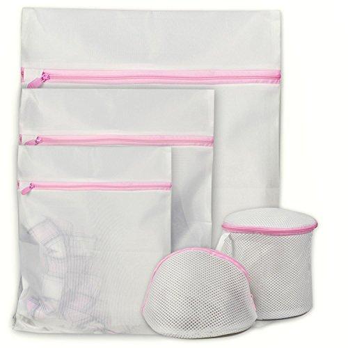Goodlucky365 5メッシュ衣服洗濯袋とバラ洗濯袋の洗濯袋セットー大型、中型、小型 用途:洗濯機/ドライヤーランジェリー洗濯機、赤ちゃんの服、下着、オーガナイザー、旅行