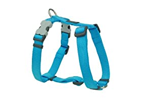 Red Dingo Plain Turquoise Dog Harness 12mm x (Neck: 25-39cm / Body 30-44cm)