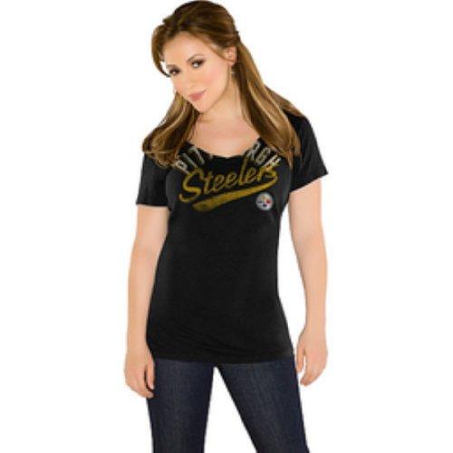 NFL Women's Pittsburgh Steelers Audible Short Sleeved Tee Shirt from SteelerMania