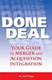 img - for Done Deal: Your Guide to Merger and Acquisition Integration book / textbook / text book
