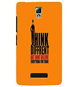 PRINTSWAG THINK DIFFERENT QUOTE Designer Back Cover Case for LENNOVO A2010