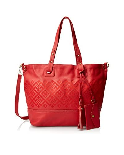 Isabella Fiore Women's Bombay Tote, Red